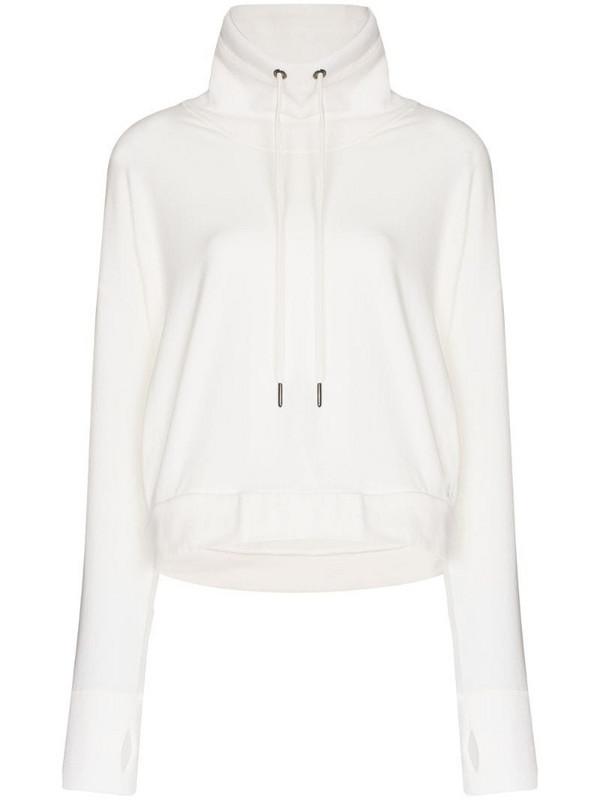 Sweaty Betty Harmonize luxe fleece sweatshirt in white
