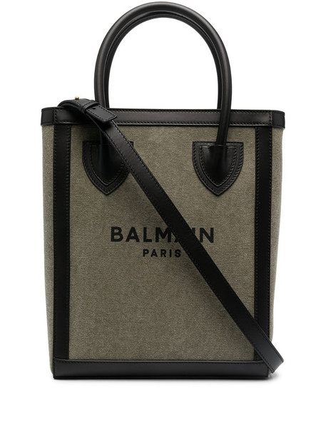 Balmain B-Army shopper shoulder bag in green