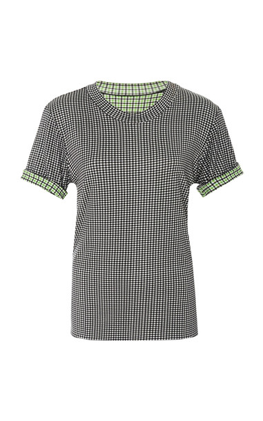 Rosie Assoulin Reversible Checked Jersey T-Shirt