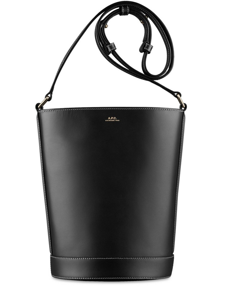 A.P.C. Small Sac Ambre Smooth Leather Bag in black