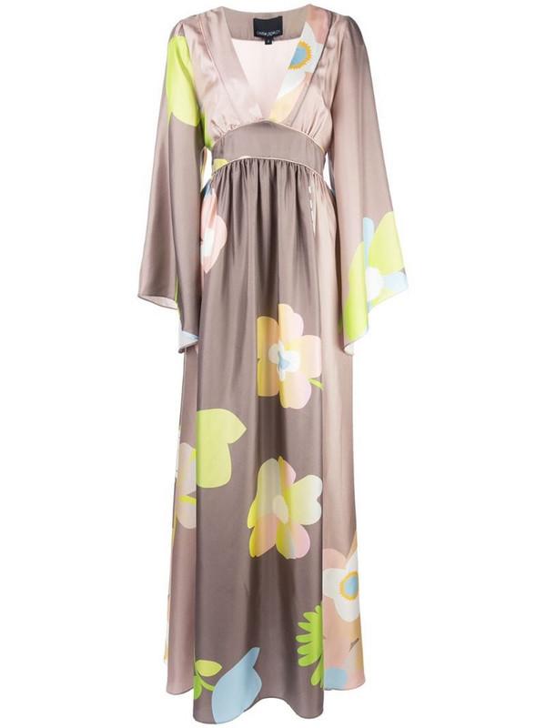 Cynthia Rowley Yvonne floral kimono dress in brown