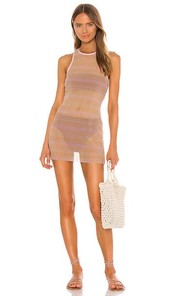 Lovers + Friends Lovers + Friends The Quincy Mini Dress in Peach