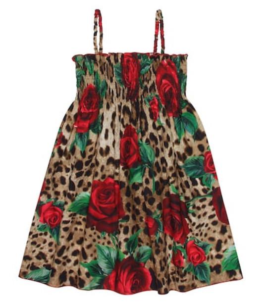 Dolce & Gabbana Kids Leopard-printed cotton dress