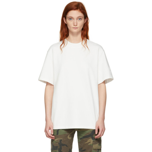 alexanderwang.t Off-White Oversized Wash & Go Puff Logo T-Shirt