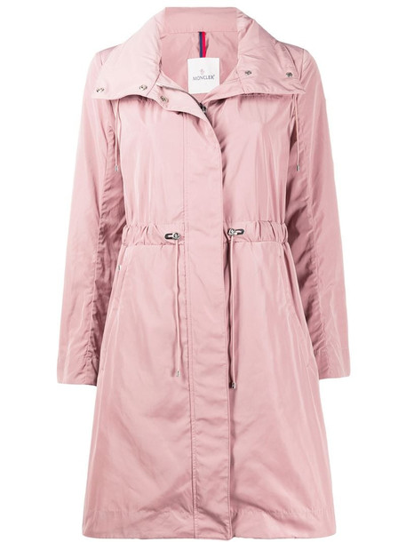 Moncler funnel-neck drawstring-waist coat in pink
