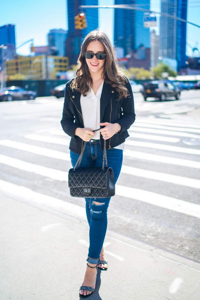 covering bases curvy blogger sweater jacket blouse jeans shoes sunglasses bag sandals fall outfits