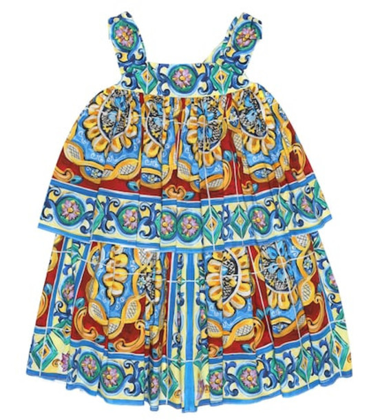 Dolce & Gabbana Kids Printed stretch-cotton dress