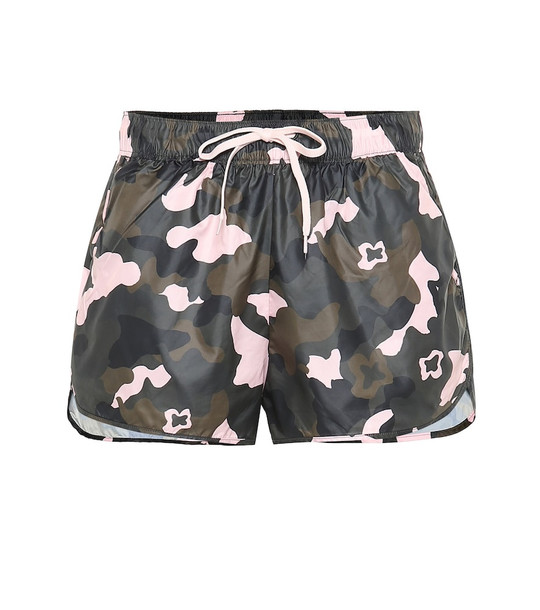 The Upside Forest Camo Run printed shorts