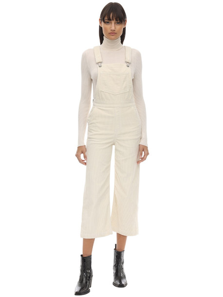 LEVI'S RED TAB Cropped Wide Leg Corduroy Jumpsuit in ivory