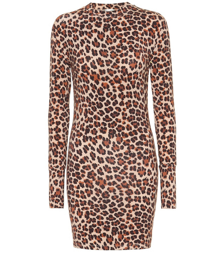 Caroline Constas Leopard-print jersey dress in beige