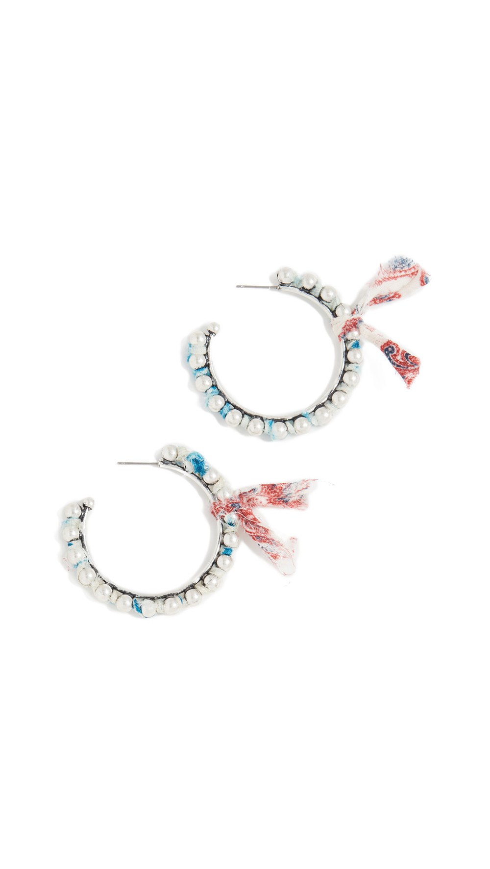 DANNIJO Lotus Earrings in silver