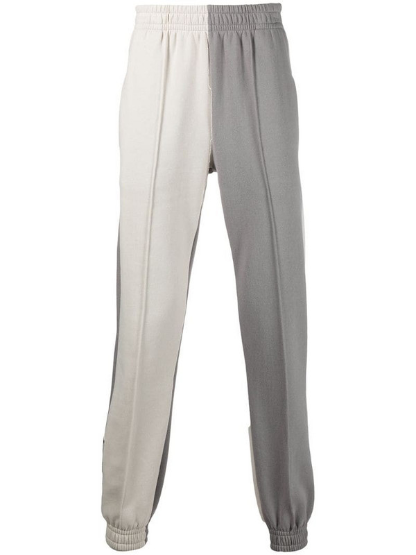 Styland two-tone organic cotton track pants in grey