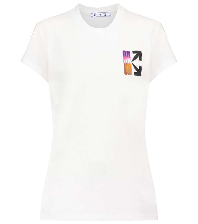 Off-White Logo cotton jersey T-shirt in white