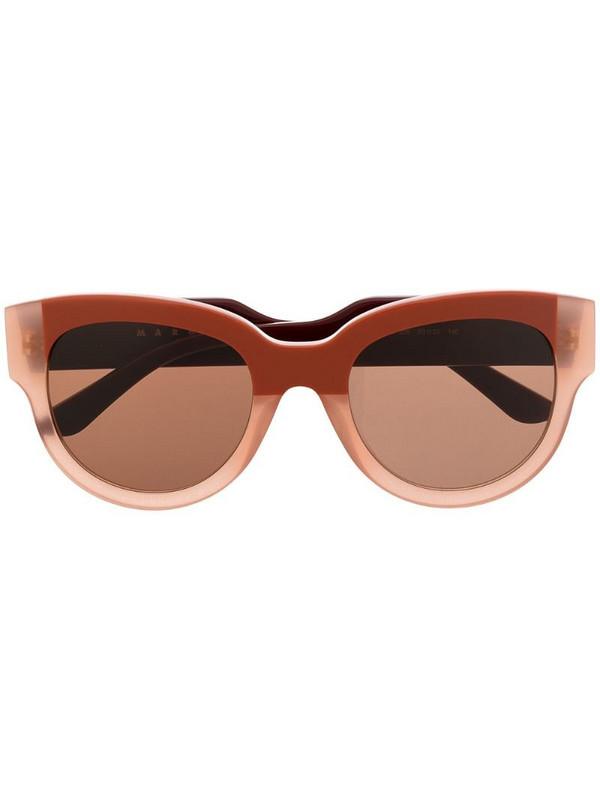 Marni Eyewear two-tone cat eye sunglasses in red