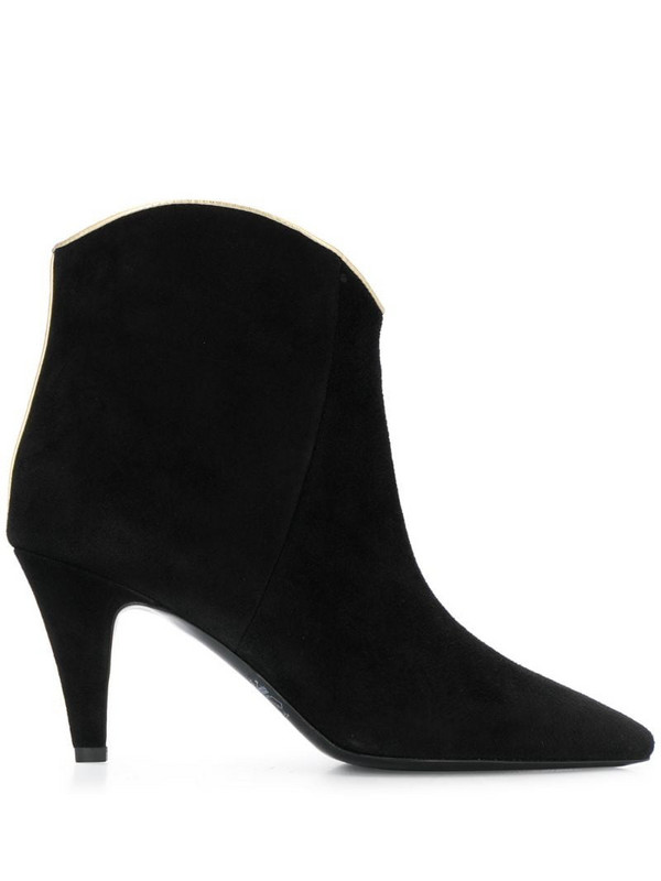 Twin-Set suede ankle boots in black