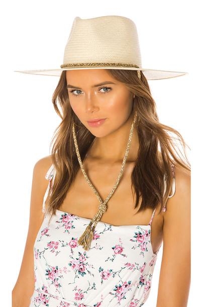 Rag & Bone Wide Brim Panama Hat in tan