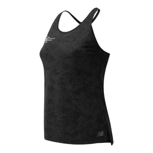 New Balance 93251 Women's 2019 NYC Marathon Q Speed Breathe Tank - Grey (WT93251MBKH)