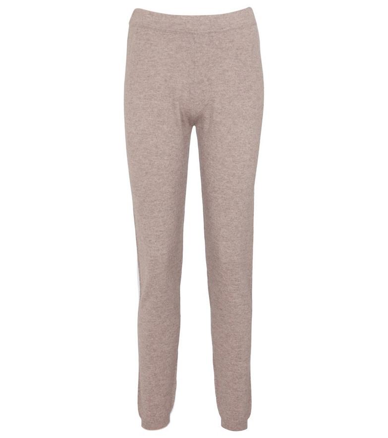 Jardin des Orangers Wool and cashmere leggings in brown
