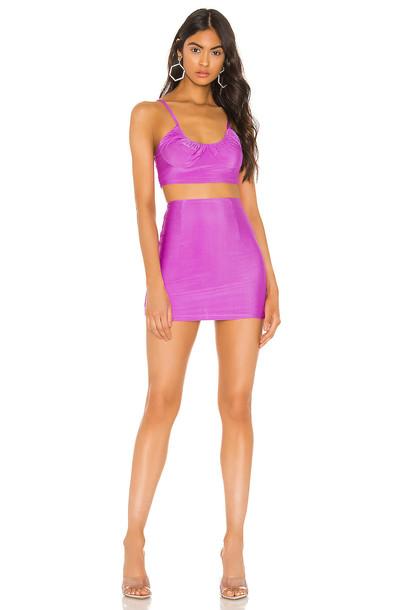 superdown Melinda Mini Skirt Set in purple
