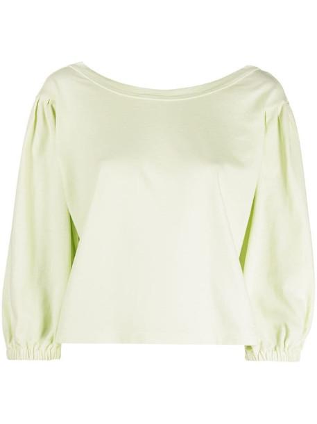 Forte Forte v-back boxy blouse in green