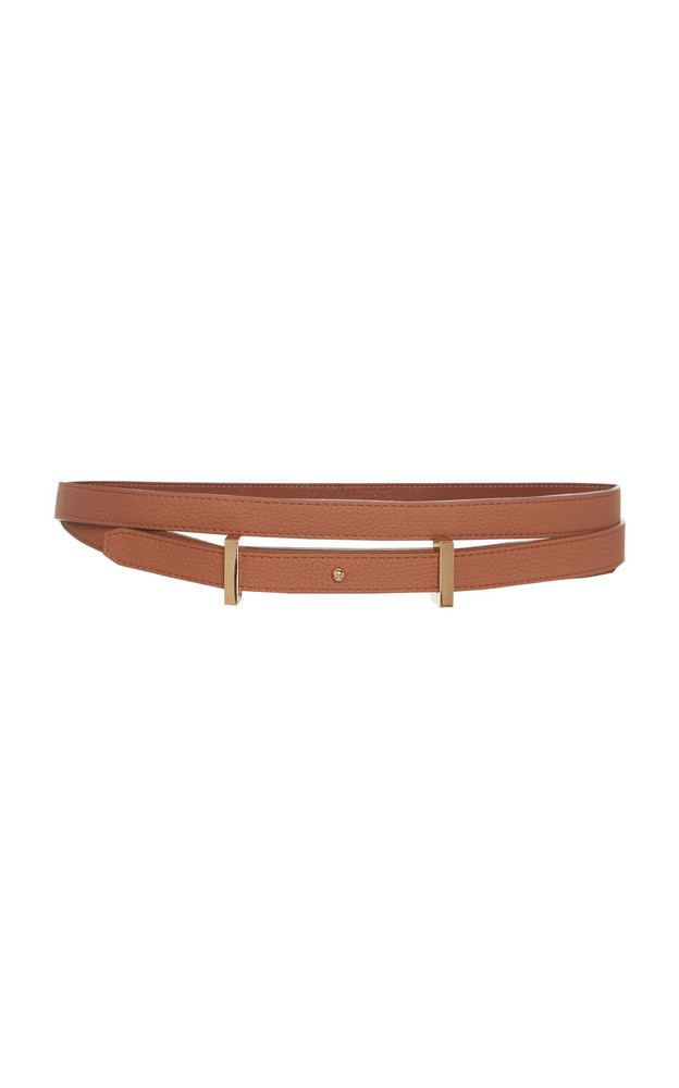 Agnona Double Wrap Belt With Plate in brown