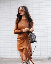 my white t,blogger,dress,bag,sunglasses
