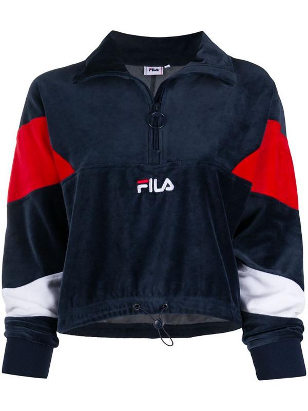 Fila Bellini half-zip sweatshirt in blue
