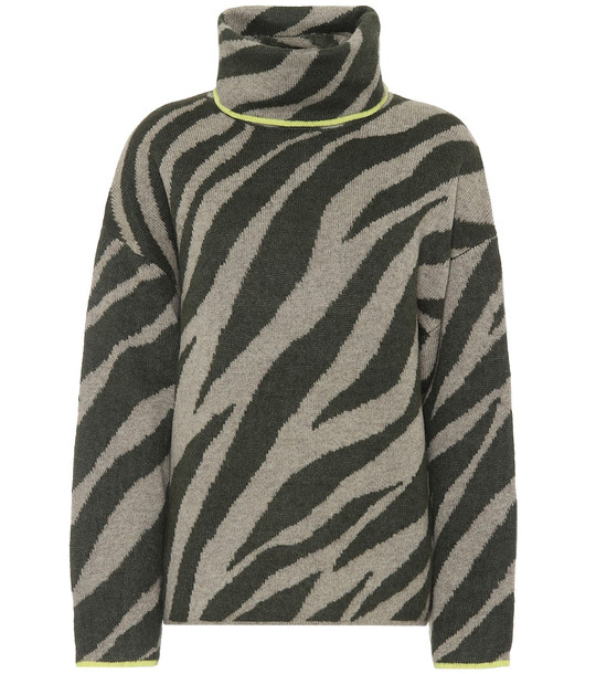 Rag & Bone Kiki zebra-jacquard sweater in green