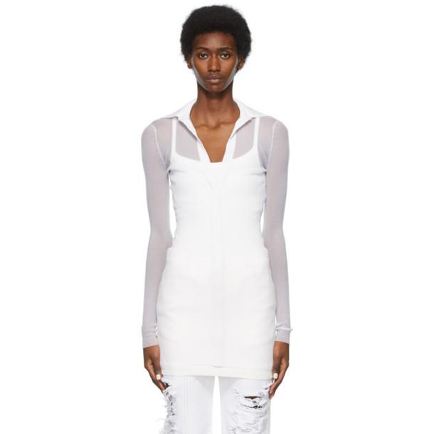Peter Do White Jessica Knit Shirt