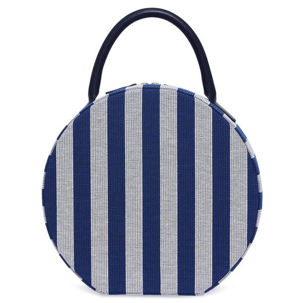 Mansur Gavriel Stripe Circle Bag - Moss/White