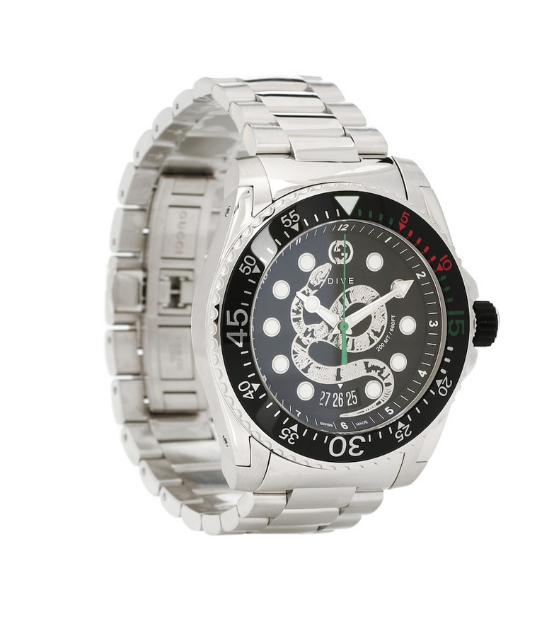 Gucci Dive 45mm steel watch in silver