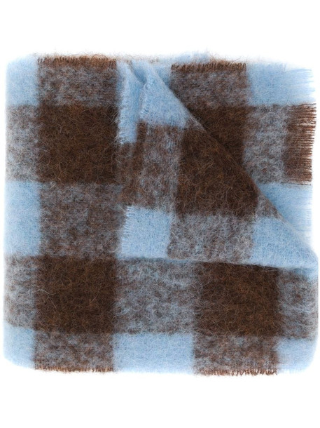 Acne Studios checked scarf in brown