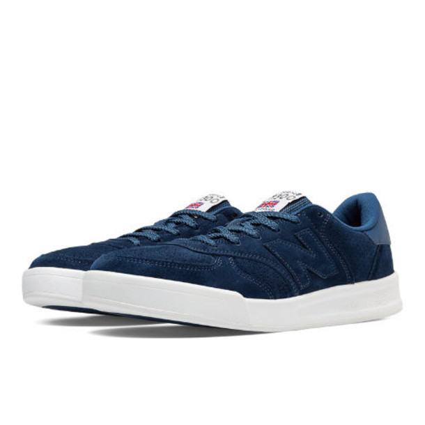 New Balance 300 Made in UK Flying the Flag Men's Court Classics Shoes - Navy (CT300FB)