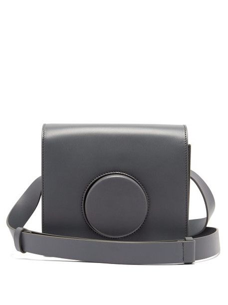 Lemaire - Leather Cross Body Camera Bag - Womens - Grey