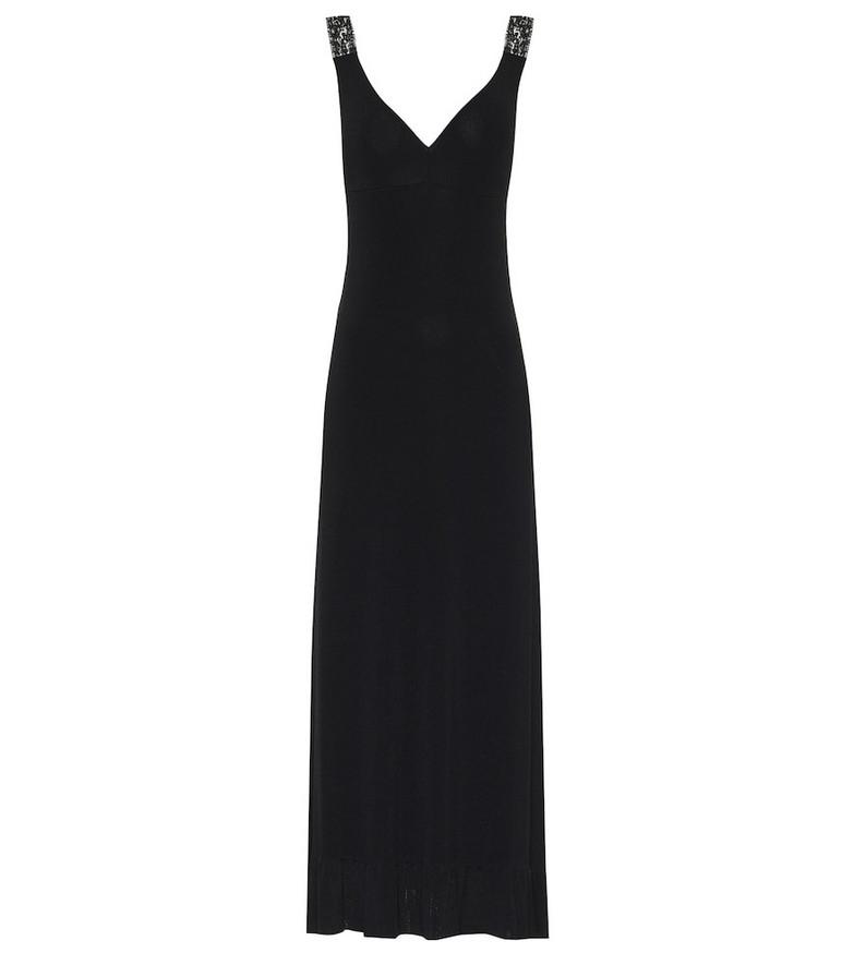 Ryan Roche Knitted maxi dress in black