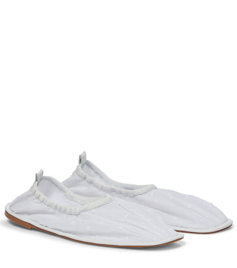 Cecilie Bahnsen x Hereu Hyacinth ballet flats in white