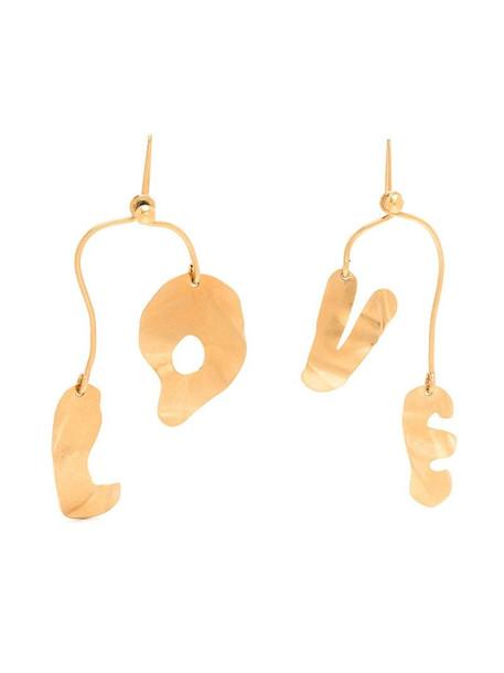 Marni LOVE drop earrings in gold