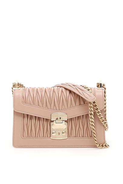 Miu Miu Medium Miu Confidential Shoulder Bag in pink