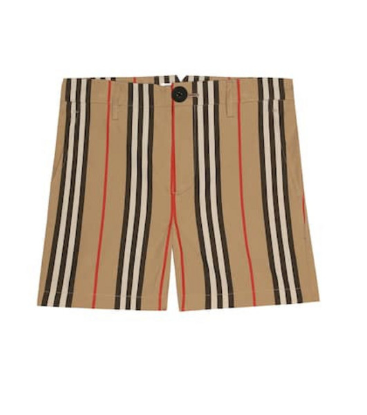 Burberry Kids Icon Stripe cotton shorts in beige