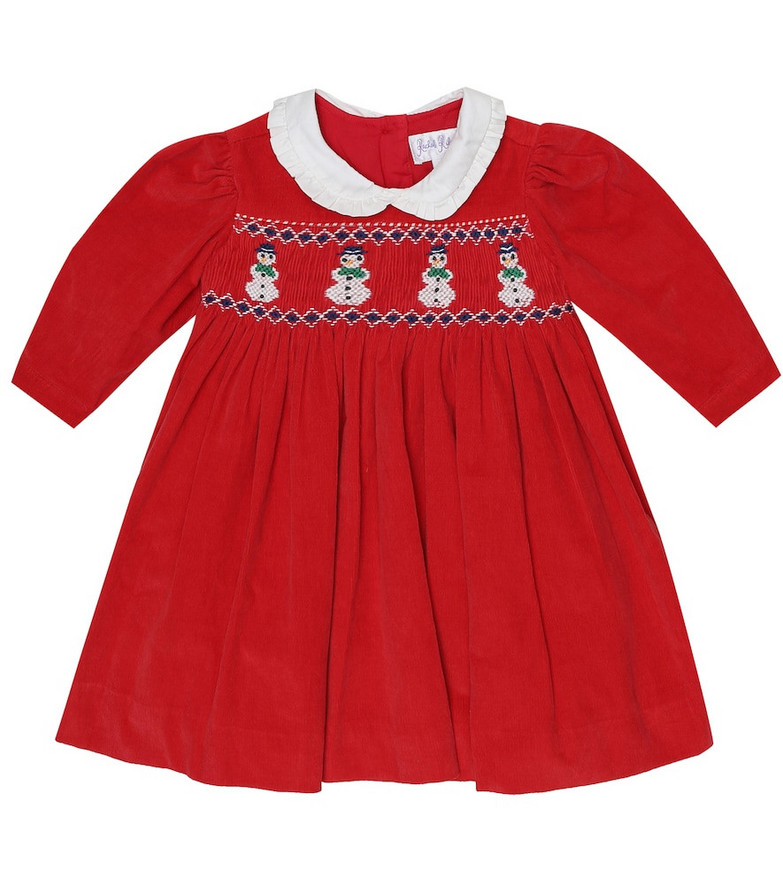 Rachel Riley Baby embroidered cotton dress in red