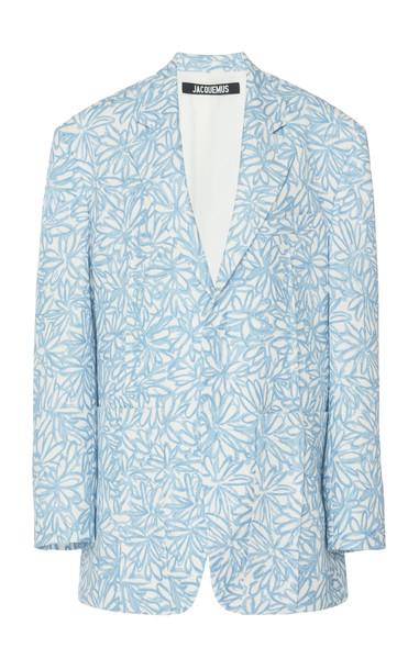 Jacquemus La Veste D'Homme Floral Oversized Twill Blazer Size: 34