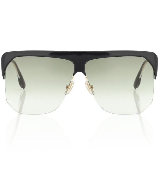Victoria Beckham Half Moon High Brow sunglasses in green