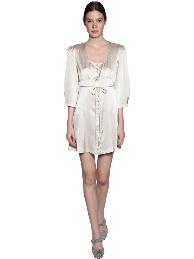 ALEXA CHUNG Techno Satin Mini Dress