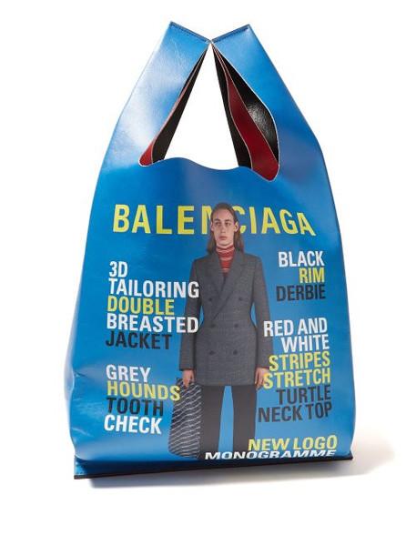 Balenciaga - Ad Campaign Print Leather Tote - Womens - Red Multi