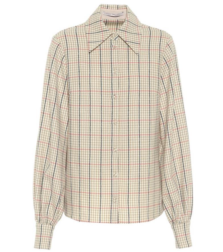Emilia Wickstead Petula checked wool shirt