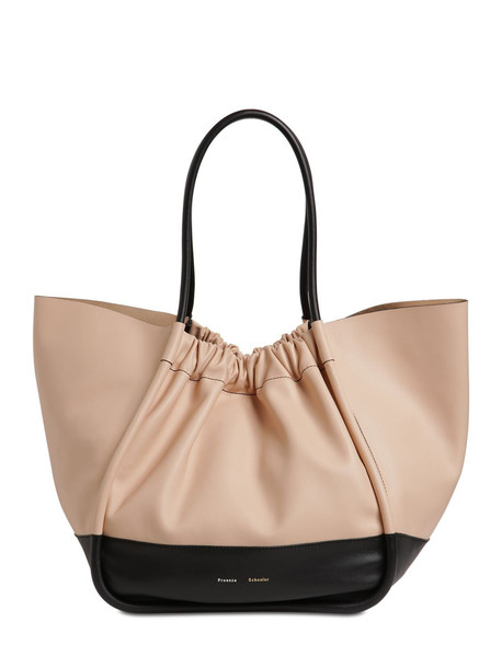 PROENZA SCHOULER Xl Two Tone Smooth Leather Tote Bag in black