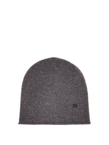 Acne Studios - Face Wool Beanie Hat - Womens - Grey