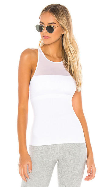 alo In Line Fitted Tank in White