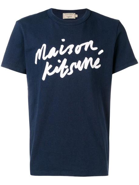 Maison Kitsuné logo-print T-shirt