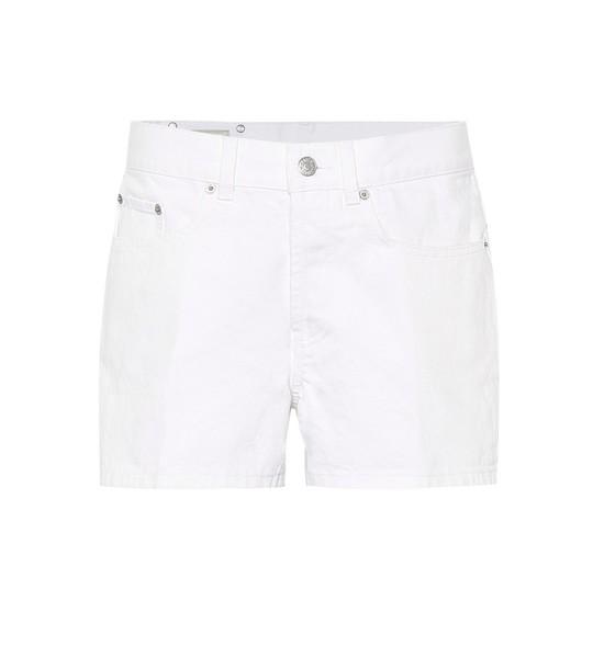 Dries Van Noten High-rise denim shorts in white